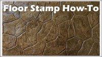 How-To Written Instruction: Floor Stamp