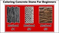 How To Written Instruction: Coloring Concrete Stone for Beginners