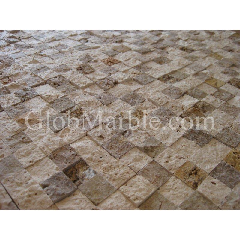 Mosaic Stone Cement : Mosaic stone rubber mold concrete veneer ms