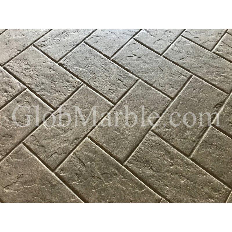 Concrete Stamps Slate Stone SM 3200. Herringbone Pattern