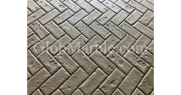 Brick Stamp Mat I Brick Stamped Concrete I Herringbone