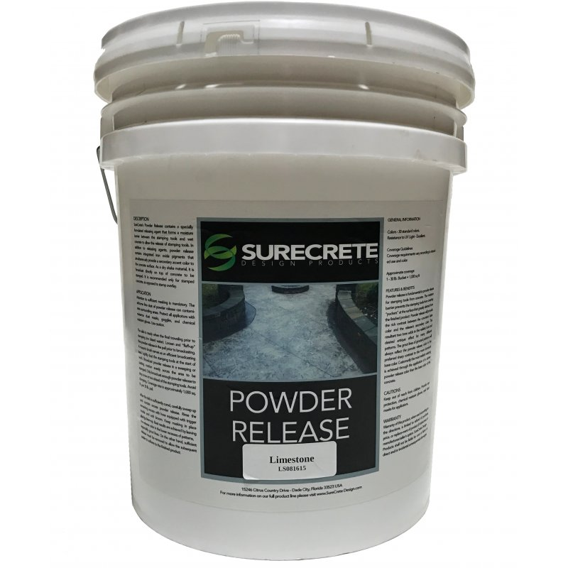Stamped Concrete Colored Powder Release Agent Pail (33 lb)