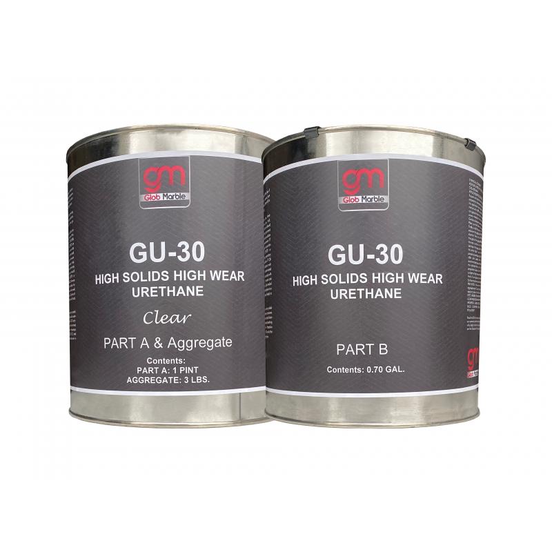 High Solid High Wear Polyurethane Sealer With Aggregate - GU-30. Semi-Gloss