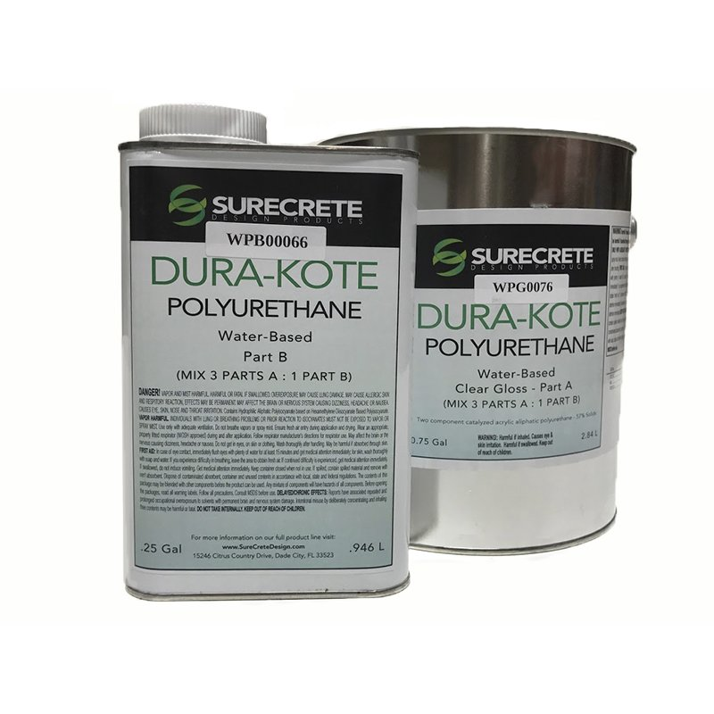 Clear Coating Cement : Dura kote polyurethane water based clear coating